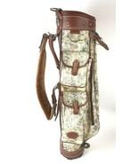Vintage Daiwa Golf Club Bag Coach Collection Tapestry Leather Trim - $79.15