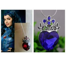 Disney Descendants Evie Heart Necklace, Red or Blue - $6.99