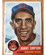 1953 Topps #150 Harry Simpson Baseball Trading Card Catcher Cleveland In... - $16.82