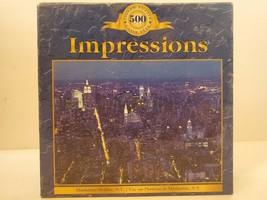 """Sure-Lox Impressions Manhattan Skyline, N.Y. 500 Piece Jigsaw Puzzle 19""""... - $9.49"""