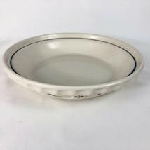LONGABERGER Pottery Pie Plate Blue Woven Traditions Baking Dish Grandma ... - $19.75
