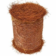 Longleaf Pine Straw Roll for Landscaping - Brown Color UV Resistant - Covers Up