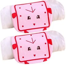 2 Lovely Pink Clock Cotton Gauze Towel Wipe Sweat Absorbent Cloth Mat Towels