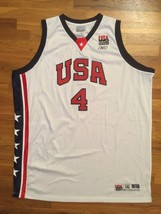 Authentic Reebok 2003 Team USA Olympic Allen Iverson Home White Jersey 56 - $309.99