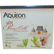 Aqueon Pink/purple Princess Castle Betta Aquarium Kit 0.5 Gallon - $25.19