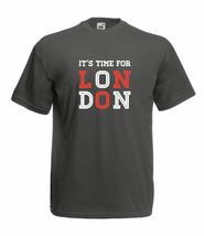 ITS TIME FOR LONDON DESIGN 100% COTTON CREW NECK SHORT SLEEVE FOTL T SHIRT - $15.56