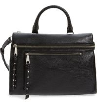 NWT Rebecca Minkoff Women's Jane Satchel Tote Black Retail $395   - $182.36