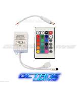 24 Key 16 Color IR Remote Control Controller SMD RGB LED Strip 12V 1-Hea... - $10.95