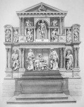 ARCHITECTURE PRINT : France Reims Cathedral South Altar - $17.96