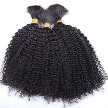 Afro Kinky Curly Human Hair Bulk Mongolian Braiding Bulk Hair No Weft Lo... - $71.28