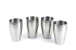 StainlessLUX 77334 4-Pc Brilliant Stainless Steel Drinking Glass / Tumbl... - $51.32