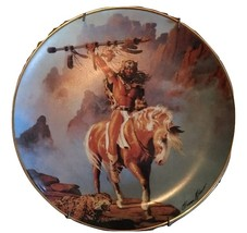 Hermon Adams SPIRIT OF THE SOUTH WIND Indian FRANKLIN MINT Plate W/Certi... - $26.72