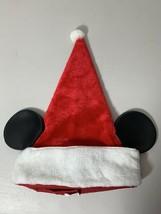The Walt Disney Company Christmas Santa Hat Mickey Mouse Ears Real Vintage - $23.36
