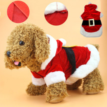 Christmas Clothes Pet Costume Santa Claus Coat Apparel Cotton Clothes  - $11.28+