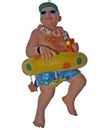 December DiamondsTourist Earl in Inner Tube with Dangling Fish around Hi... - $15.99