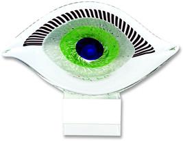 Badash Crystal - Visionary Good Luck Murano Style Art Glass Eye Centerpi... - $107.26
