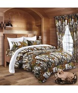 The Woods Camo Snow White 12 piece Comforter and Sheet Set and Curtains - $90.25