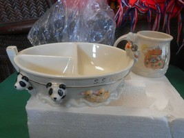 "Beautiful New...Lenox ""Noah's Ark"" Cup And Bowl - $32.26"