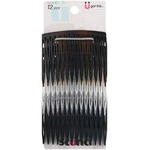 Scunci Effortless Beauty Side Hair Combs, Assorted Colors, 12-Pcs - $7.81