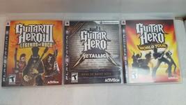 Guitar Hero: Metallica, Guitar Hero 3 Legends Of Rock, Guitar Hero World... - $20.79