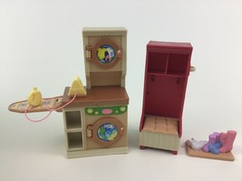 Loving Family Dollhouse Furniture Laundry Room Set Lot Shoe Fisher Price 2005 - $22.23