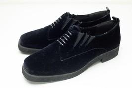 Donald J Pliner 8 Black Velvet Slip On Oxford Women's - $48.00