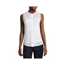 Liz Claiborne Sleeveless Pleat-Front Knit Top Size L New Msrp $36.00 - $12.99