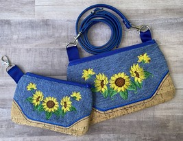 Mommy & Me 6x 10 and 5x7 Spectacular Sunflowers Zip bag w/ shoulder stra... - $35.00