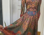 Vintage Oscar De La Renta Couture silk Metallic embroidered Skirt Blouse Set S