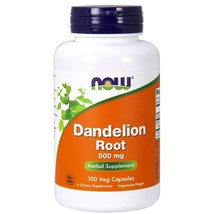Now Foods Dandelion Root 500 mg - 100 Capsules FRESH, MADE IN USA - $24.68