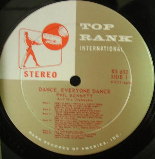 Phil Bennett - Dance, Everyone Dance - Top Rank Records RS 602