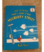 Dr. Seuss And To Think I Saw It On Mulberry Street Book 1964 Book Club Edition - $742.50