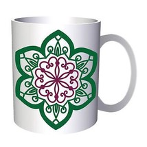 Mandala More Green 11oz Mug n335 - $10.83