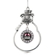 Inspired Silver Color Guard Circle Snowman Holiday Decoration Christmas Tree Orn - $14.69