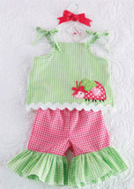 Baby Girls Lady Bug Tunic And Flare Pant Size 0-6 Months - $29.00