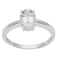 6 x 8MM Oval Sky Blue Topaz 925 Sterling Silver Solitaire Dainty Women G... - $15.56