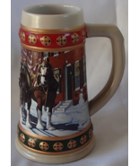 Budweiser Hometown Holiday Beer Stein 1993-1994  Limited Edition Mug Free Ship - £25.18 GBP