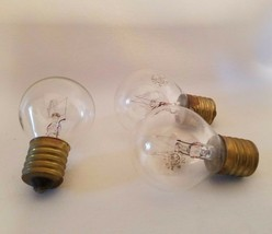 Lot of 3 General Electric GE Appliance Globe Light Bulb Lamps 10W 115-12... - $12.84
