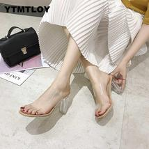 2019 HOT Clear Heels Slippers Women Sandals Summer Shoes Woman Transpare... - $53.88+