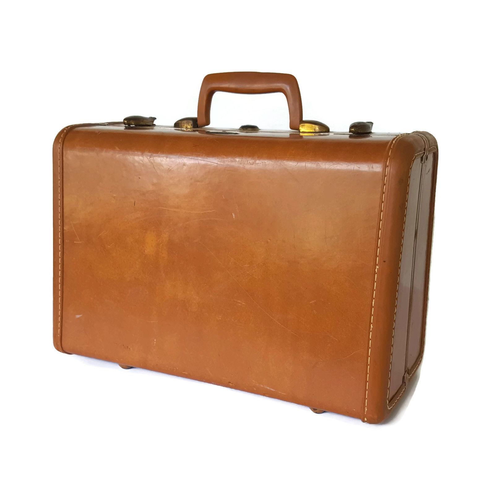 34ff9039cd95 Vintage Samsonite Brown Hardside Suitcase Small Train Case Luggage 15