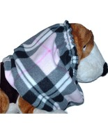 Pink Black White Plaid Fleece Dog Snood by Howlin Hounds Bloodhound Size XL - $13.50
