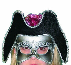 Carnivale Mask Masquerade Carnival Elegant Silver Mask New Years Eve Party - $15.95