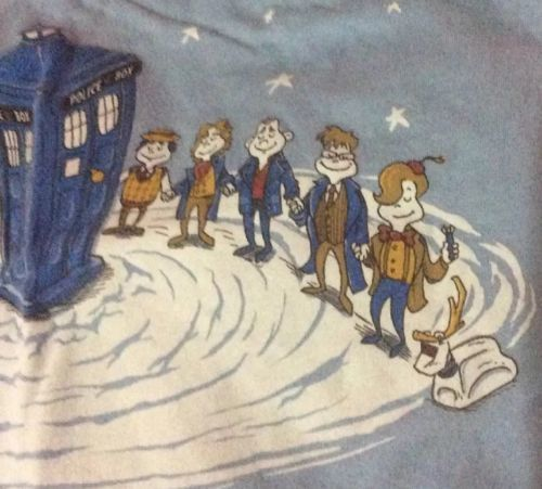 Dr Who Dr Seuss Blue Graphic T-Shirt Tee Shirt Size XXL 2X American Apparel