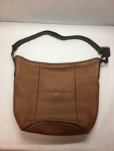 Cole Haan Brown Leather Bucket Hobo Handbag Woodbury B40619 Two Tone - $336.59