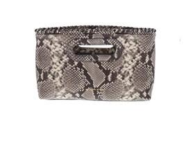 Michael Kors Rosalie Womens Embossed Leather LG Clutch Purse Chain NATUR... - $2.709,90 MXN