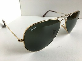 Ray-Ban RB 3025 114 Gold Green 58mm Aviator Large Metal Sunglasses        - $69.99