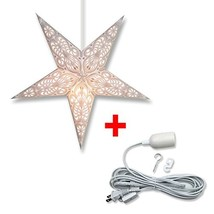 Aquila Star Lantern in White Bundle: Star + 12' Electric Cord - $22.03