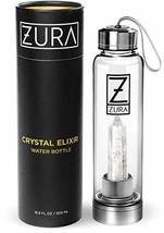 ZURA Clear Quartz Crystal Infused Water Bottle – 18 oz – Shatter-Resista... - $1.424,96 MXN