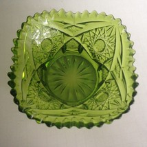 "Vintage Green Glass Candy Bowl Dish  5""Wide 3""Tall Mid Century Modern Ho... - $9.05"