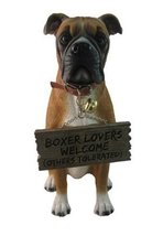 "World Of Wonders ""Tyson"" The Boxer Dog Garden Welcome Statue - €28,15 EUR"
